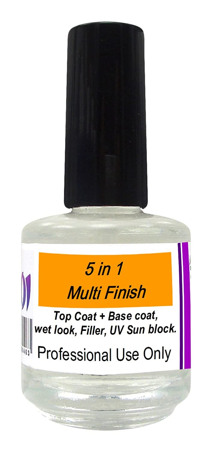 5 In 1 Ridge Filler 15ml Salon Acrylic Preparation Liquid Nail Salon Treatment Top Coat Koi