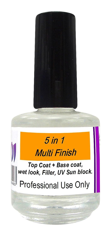 5 In 1 Ridge Filler 15ml Salon Acrylic Preparation Liquid Nail Salon Treatment Top Coat Koi