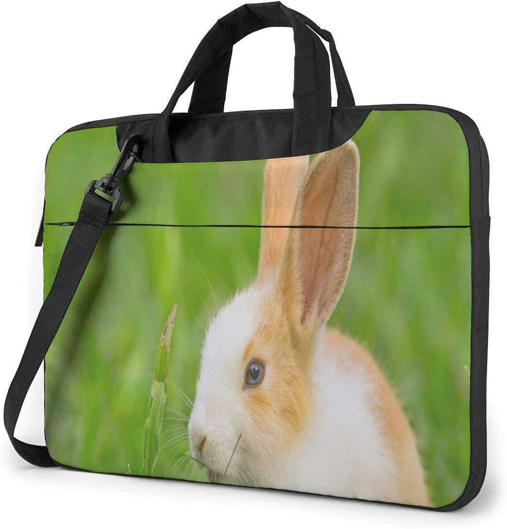 Little Rabbit Sitting Bunny Laptop Case 14 Inch Carrying Case with Strap