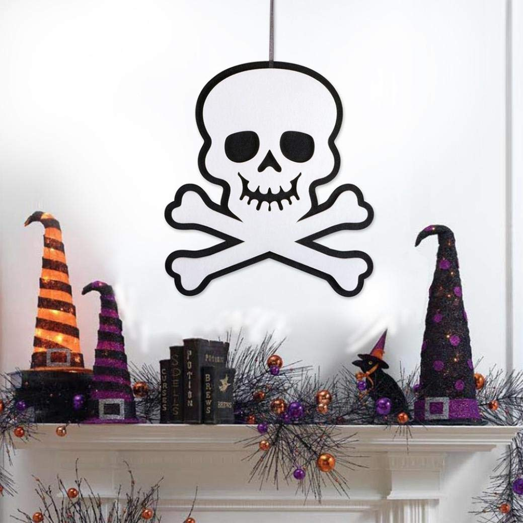 Halloween Indoor and Outdoor Hanging Door Decorations and Wall Signs Scary Party Supplies (D) by Coerni (Image #3)