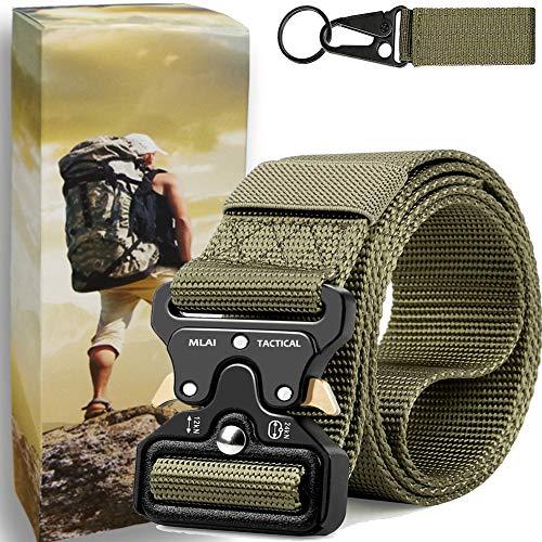 Tactical Belt Nylon Webbing Belt Adjustable Military Shooters Style Belt Quick-Release Belt Heavy-Duty 1.5