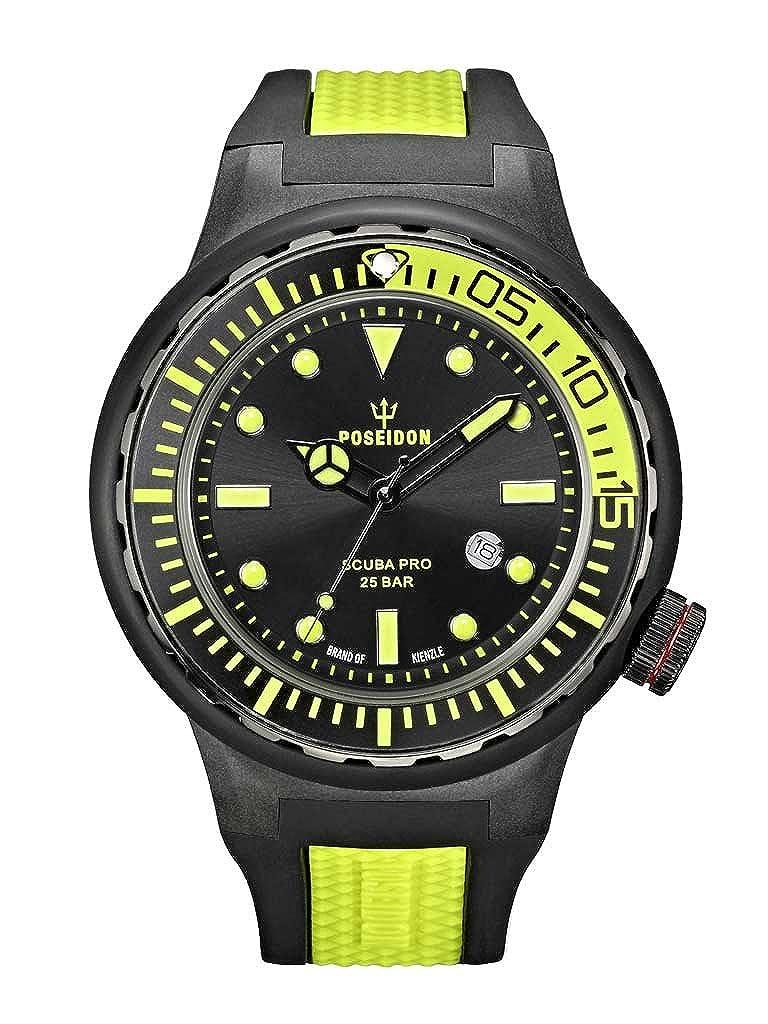 Kienzle Poseidon XL Scuba Pro K2081243023-00394 - Reloj analógico de Cuarzo para Hombre, Correa de Goma