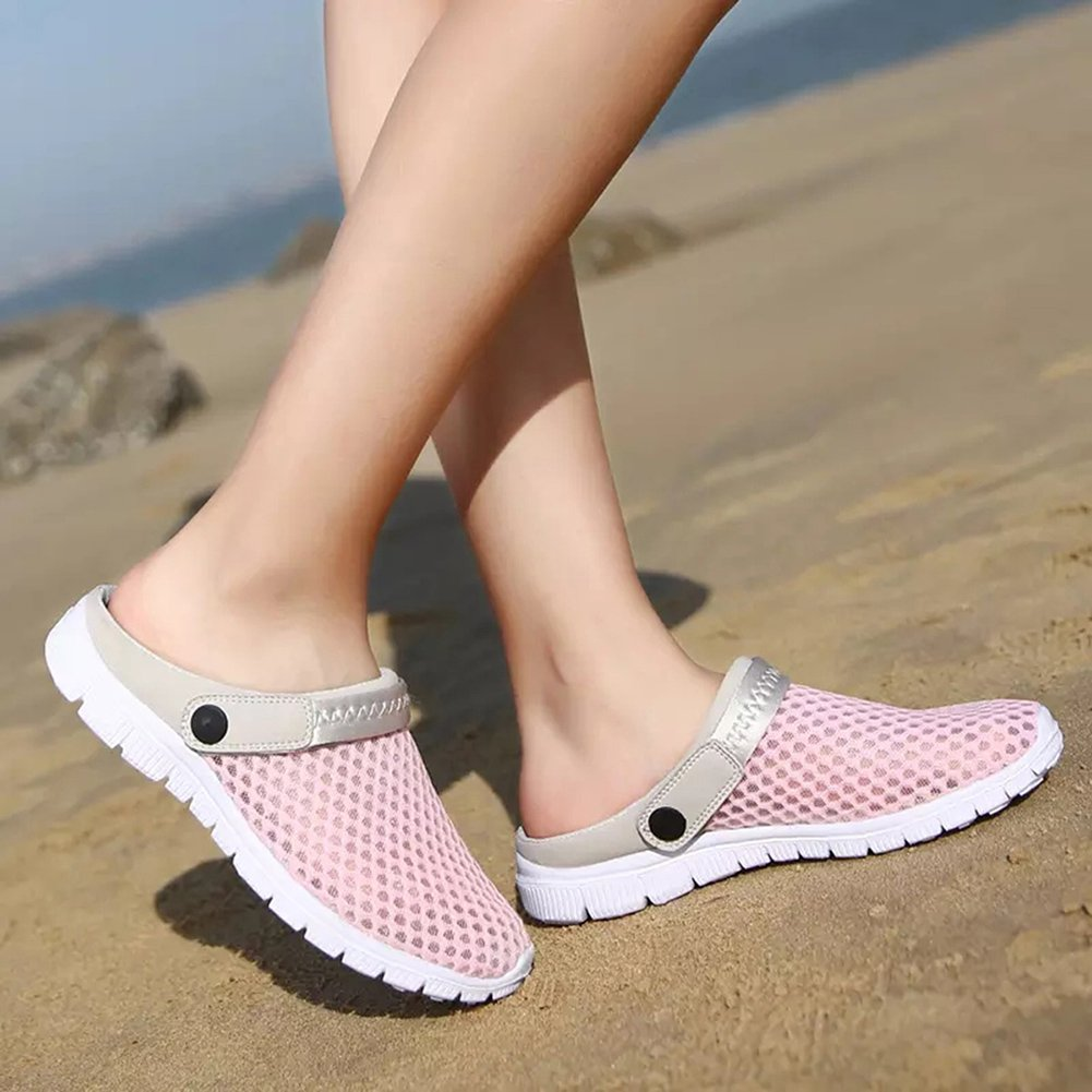 Herren Damen Clogs Pantoletten Schl/üpfen Atmungsaktiv Hausschuhe Mesh Schuhe Outdoor Slip on Rutschfest Sandalen