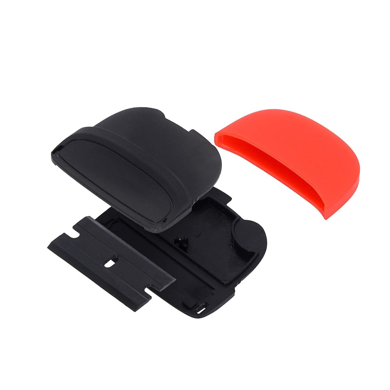 Aufkleber /& Fensterglas-T/önung FOSHIO 2 ST/ÜCKE Mini handliche Kunststoffschaber mit 20 ST/ÜCKE 1,5 Zoll zweischneidigen Kunststoff-Rasierklingen zum Abkratzen von Lack /& Auto-Vinylfolie