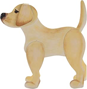 The Round Top Collection - Dress Up Yellow Lab - Metal