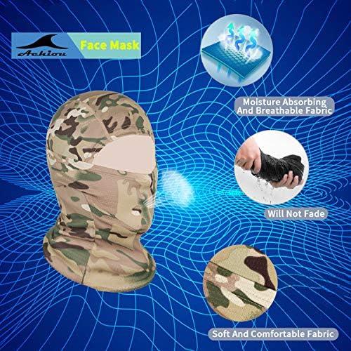 Achiou Balaclava Face Mask UV Protection for Men Women Sun Hood Tactical ski 2