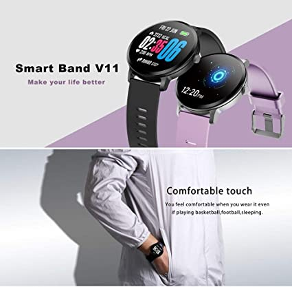Amazon.com: omyyf LEMFO Smartwatch Heart Rate Blood Pressure ...