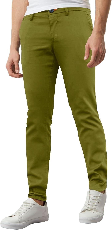 da uomo in chino Pantaloni aderenti stile casual elasticizzati elastan super-aderente westAce