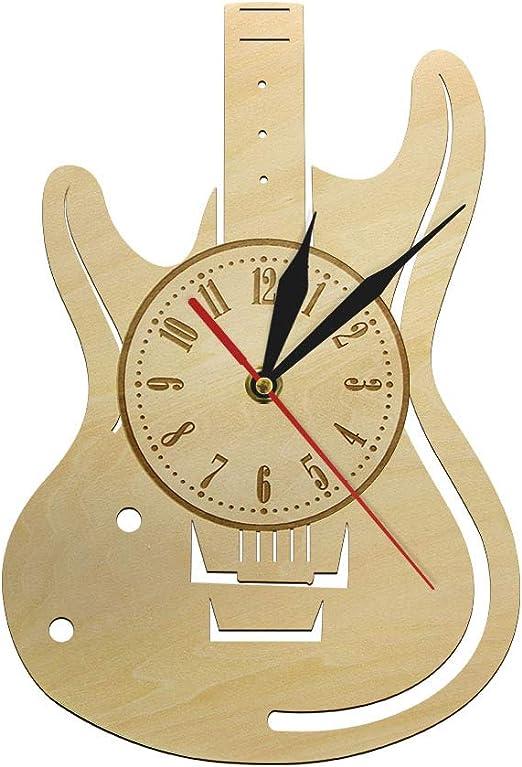Relojes de pared para sala de estar Guitarra Instrumentos ...