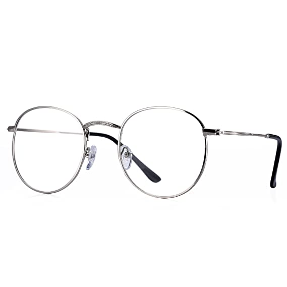 29f9d64450 Pro Acme Classic - anteojos de lentes redondas de metal transparente  unisex, Bronce, Small: Amazon.com.mx: Ropa, Zapatos y Accesorios