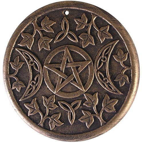 - Triple Moon - Terracotta Wall Plaque By Lisa Parker
