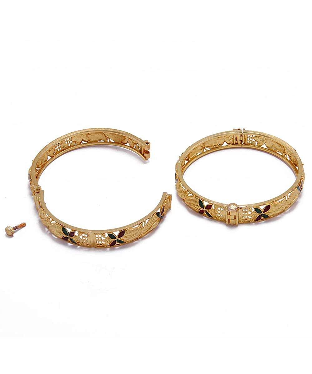 Womens Trendz Gold Plated Authentic Gold Plated Bangles For Womens /& Girls