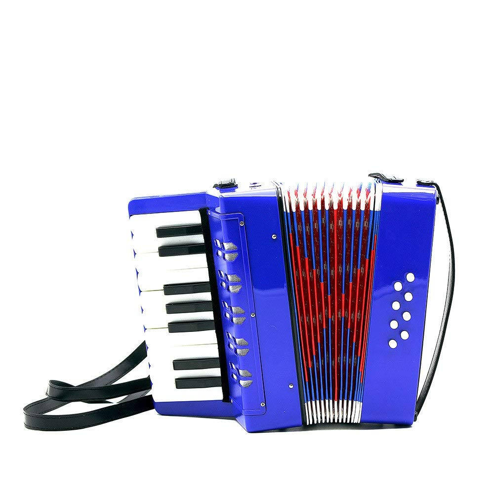Accordion, Lightweight Small Size Children's Toy Accordion Kids Piano Accordion 17 Keys 8 Bass With Straps Music Instruments For Beginners Students Educational Instrument Band Toy Children's Gift Musi