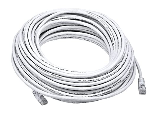 Amazon.com: Monoprice 75FT 24AWG Cat6 550MHz UTP Ethernet Bare Copper Network Cable - White: Computers & Accessories