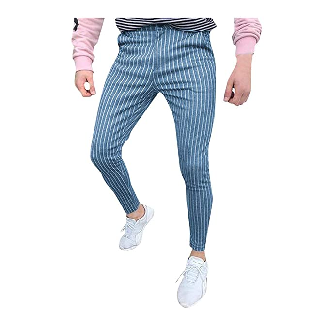 Vectry Pantalones Hombre Casual Slim Fit Skinny Business Traje ...