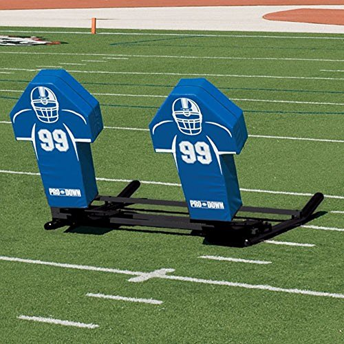 TACVPI Football Blocking Sled with Royal Cone Pads - Varsity M-Series - 3 Man