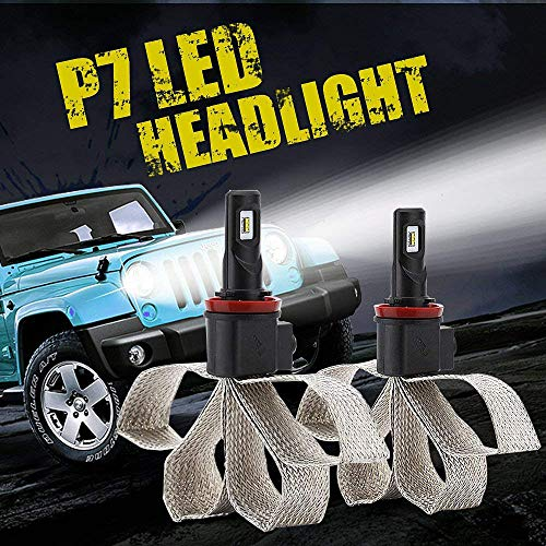 Diesel Auto 2 x H8 H9 H11 Led Headlight Bulbs 60W 9600LM 6000K White H11 Led Bulb with Philips Chips 12V Led Headlight Conversion Kit -1 Year Warranty