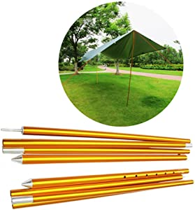 HYOUT Adjustable Tarp Poles Aluminium Alloy Telescoping Tent Poles for Camping Backpacking Hiking