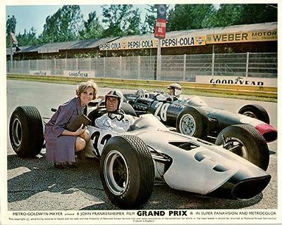 Grand Prix Original Lobby Card James Garner Eva Marie Saint Formula One Race Car