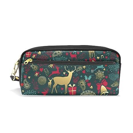 Estuche para bolígrafos, diseño de Navidad, color rojo, con ...