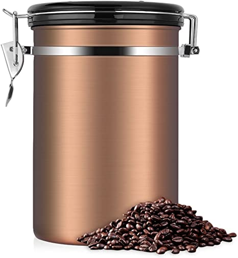 Kaffeedose Luftdicht Kaffeedose Edelstahl Kaffeedose Kaffeebehälter