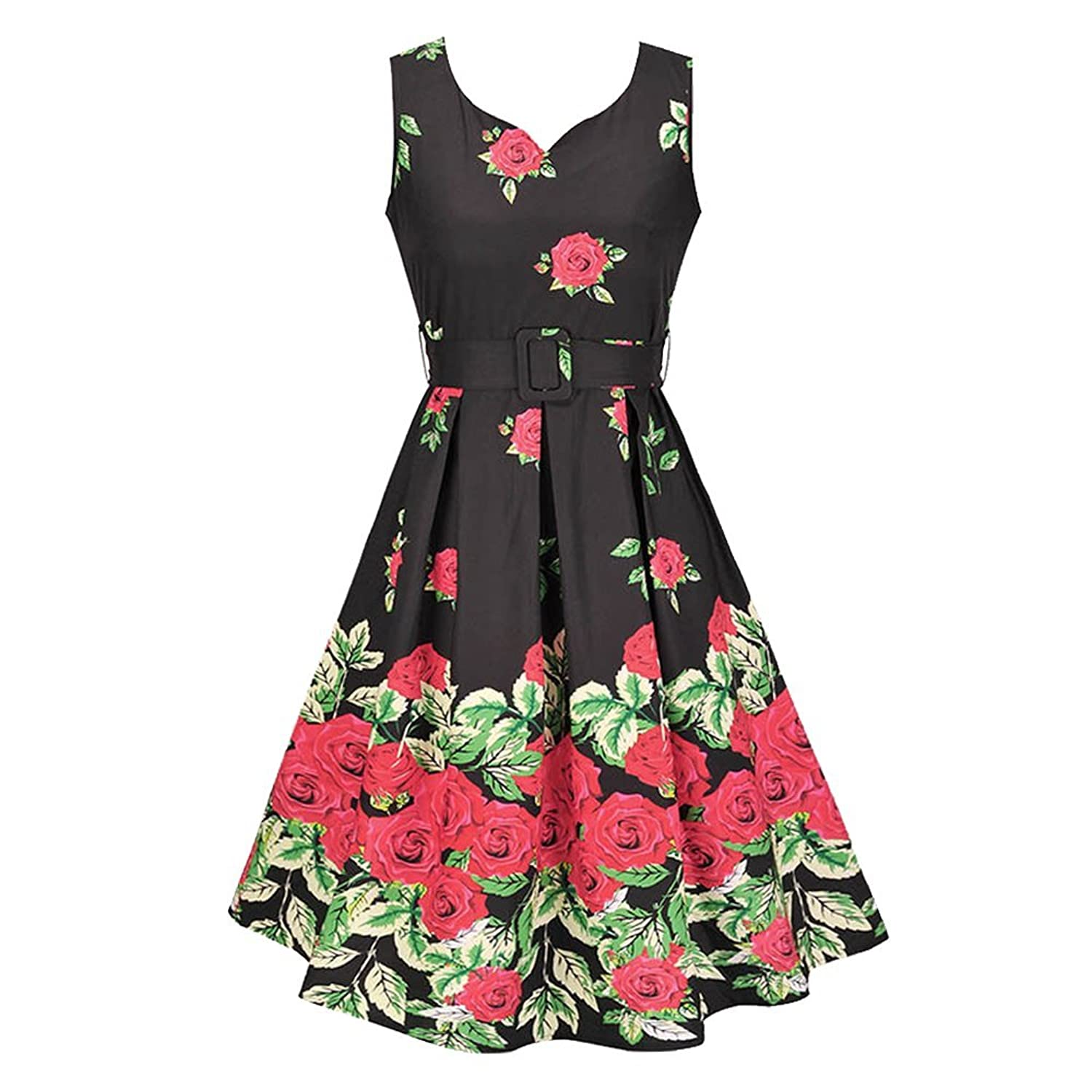 80%OFF MY DRESS CODE Vintage 1950\'s Summer Floral Garden Party ...