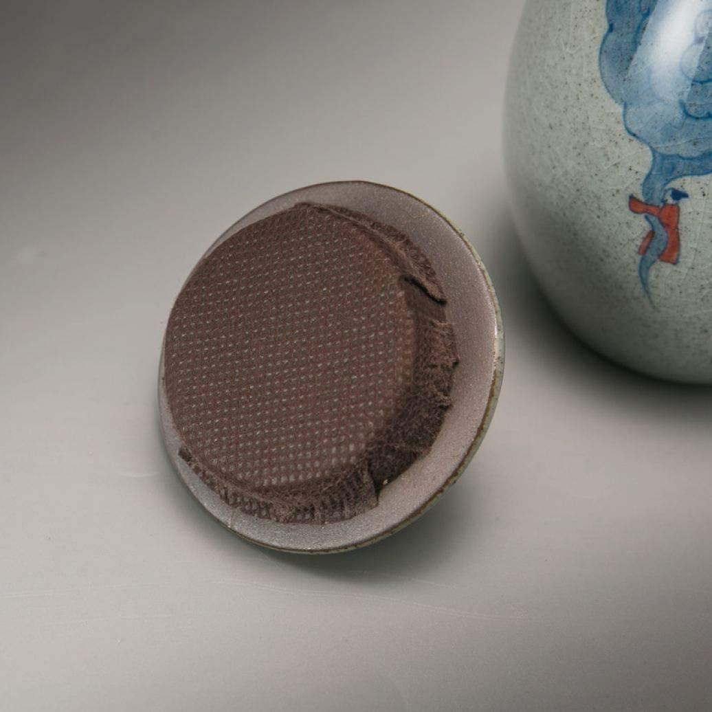 Retro Coarse Pottery Tea Caddy Hand Painted Kung Fu Tea Set Tea Cans Ceramic Sealed Jar Storage Bottle Home Decor by BERTERI (Image #4)