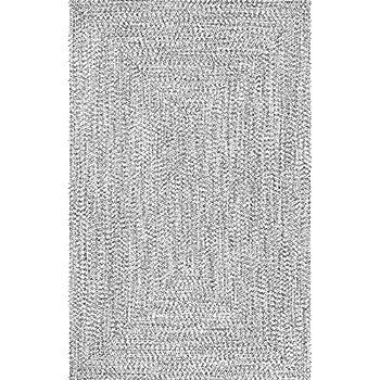 nuLOOM HJFV01C Braided Lefebvre Rug, 10 x 14, Salt and Pepper