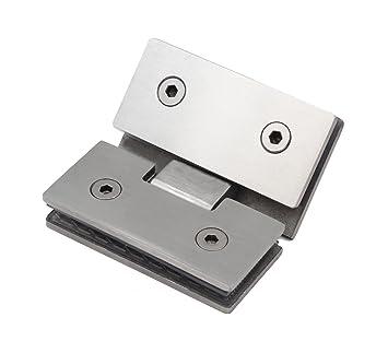 Bisagras de acero inoxidable Puerta de Cristal 6/mm 8/mm 8,38/mm 8,76/mm Haeusler-Shop Cristal Haeusler-Shop