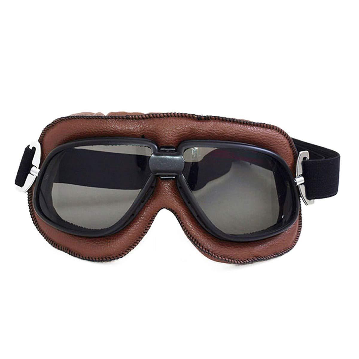 WENDAN EsquiandoGafas de Moto Gafas de Moto Retro Gafas de Esqui
