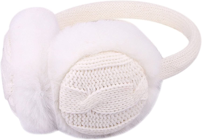 Good01 Cute Kintted Plush Earmuffs Earwarmer For Ladies Girls Winter Warm