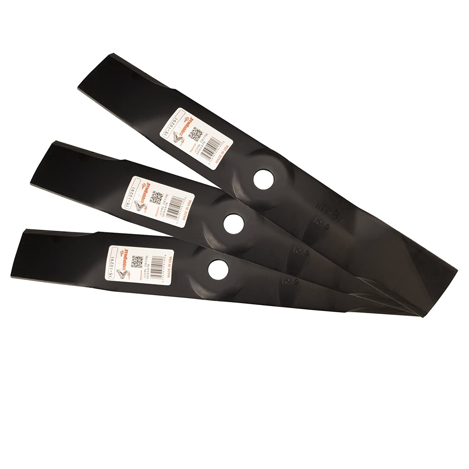 """Three (3) Pack Rotary Lawn Mower Blades Replace John Deere M127500 M145476 Requires (3) Blades For 48"""" Deck"""