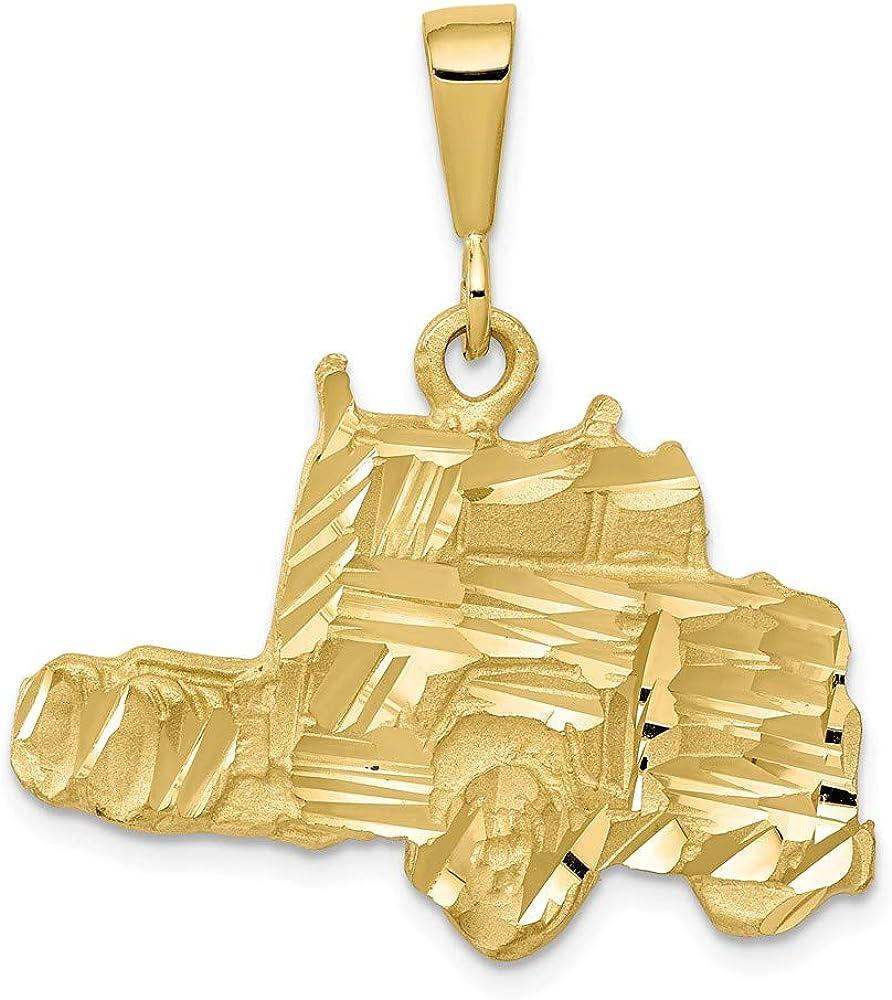 Pendentif semi-camion en or jaune massif 10 carats