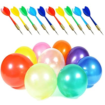 Amazon com: Lilly Carnival Games Darts Balloons, 500PCS