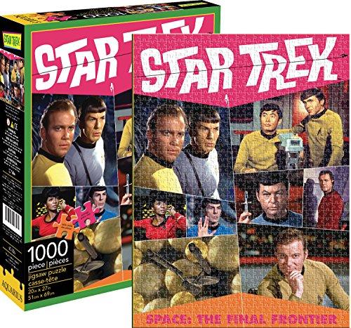 Aquarius Star Trek Retro 1000 Piece Jigsaw Puzzle (Star Puzzle Trek Jigsaw)