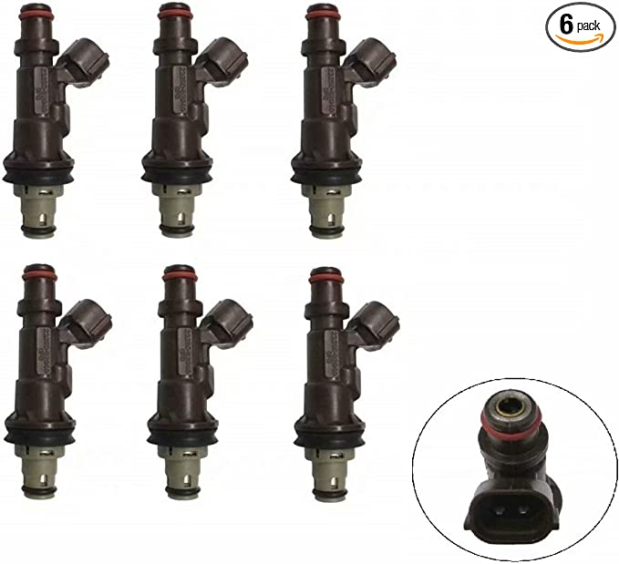 6 Pcs Fuel Injectors Fits For TOYOTA Tacoma Tundra 4Runner 3.4L V6 23250-62040
