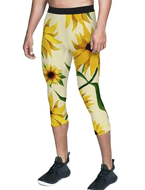 Amazon.com: Queen Area - Pantalones de yoga para hombre (3/4 ...