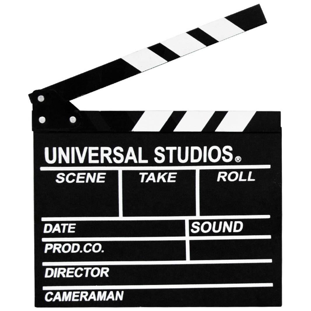Wooden Director's Film Clapboard Cut Action Scene Clapper Movie Clapper Board (Black) by Sweet FanMuLin