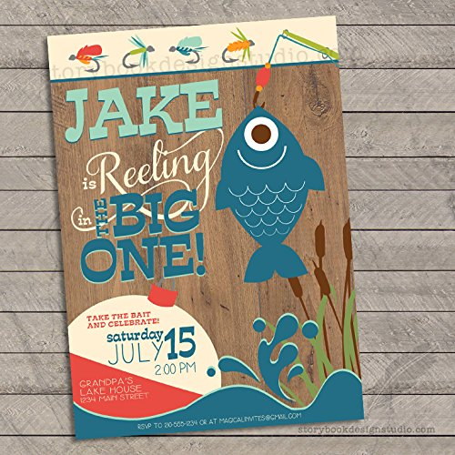 Fishing Birthday Party Invitations (Set of 10) Personalized]()
