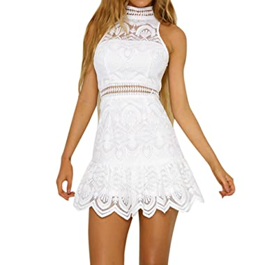 Women's Dress, 2019 New Women Summer Lace Backless Evening Party Beach Mini Dresses Sundress by E-Scenery
