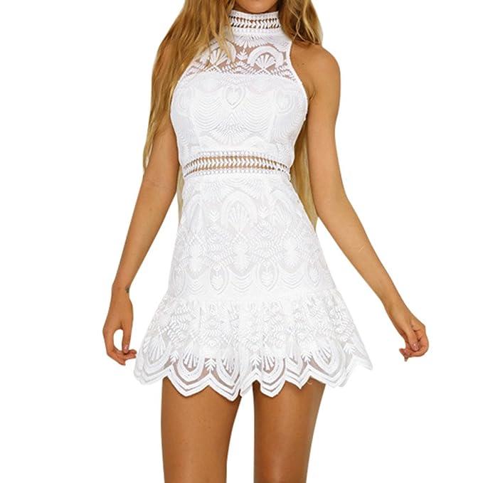 e58536b9f Vestidos Mujer Verano Elegante de Mini Vestir sin Mangas de para Playa  Fiesta