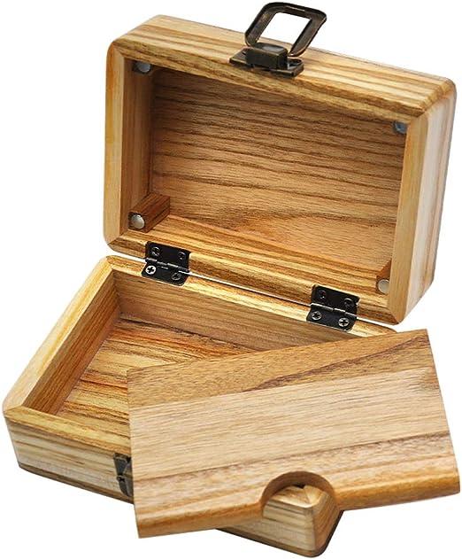 IPOTCH Cofre De Madera Caja De Cigarrillos Bandeja De Papel Rodante Caja Accesorios De Rodillos De Almacenamiento: Amazon.es: Hogar