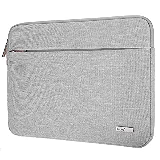"Lacdo 15.6 Inch Laptop Sleeve Computer Case for 15.6"" Acer Aspire/Predator, Asus TUF FX505DT, Lenovo Ideapad 330, Dell Inspiron, ASUS ZenBook/VivoBook, HP Pavilion Chromebook Notebook Bag, Gray"