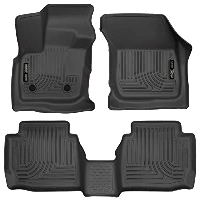 Husky Liners 98791 Black Weatherbeater Front & 2nd Seat Floor Liners Fits 2017-2019 Ford Fusion