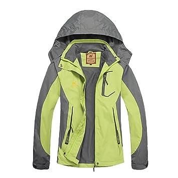 f998888dcae gitvienar Mujer Chaquetas con capucha Outdoor Montañismo Ropa impermeable  fina fahrkleidung Wind Chaqueta Ropa para viento