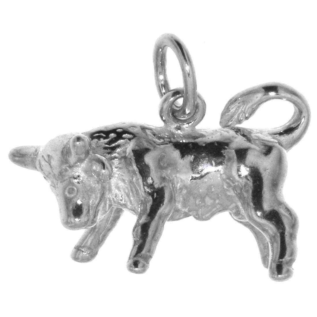 Derby Anhänger Stier Tierkreiszeichen Sternzeichen massiv echt Silber 23516 Derby International