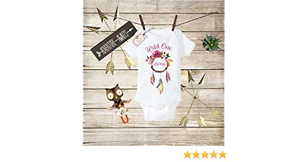 Boho Baby Clothes Wild One Bodysuit Wild One Baby Boho Bodysuit Dreamcather Outfit Toddler T-shirt Baby Shower Gift Custom Clothes Infant Bodysuit Baby Boho Clothes Baby Boho Designs