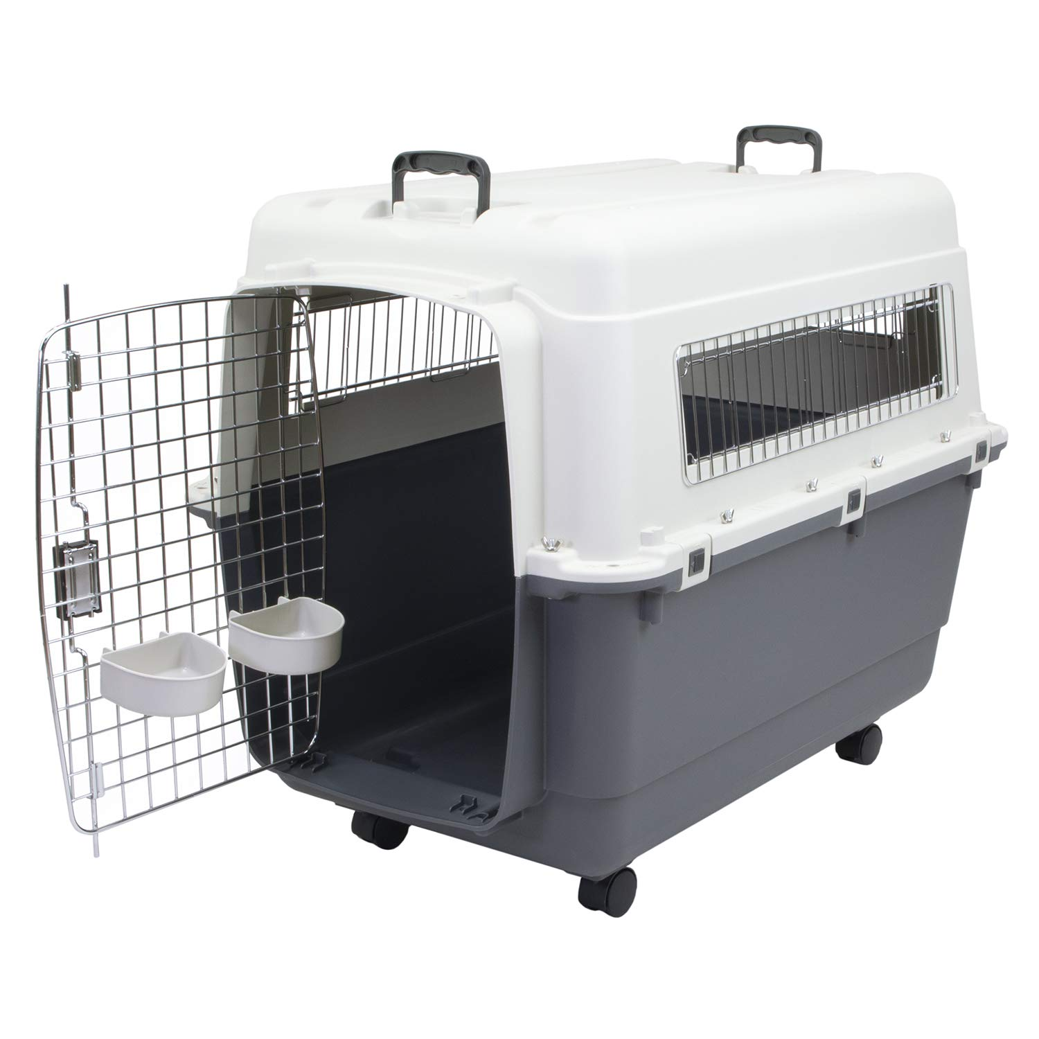 Chesapeake Bay CM-10039-CS01 Heavy-Duty Rolling Airline Pet Crate-X-Large, 18 x 10 x 1.5 inches, Gray by Chesapeake Bay