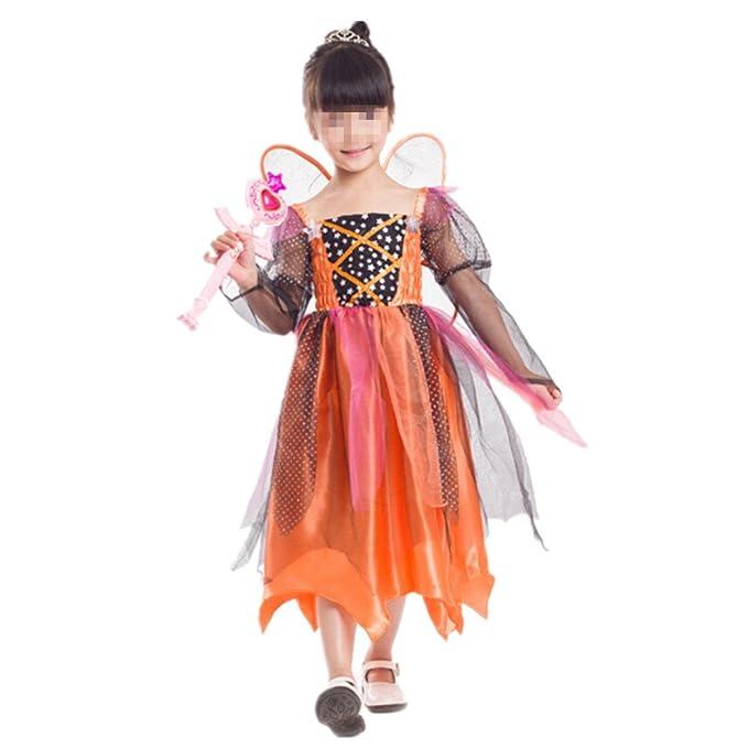 Disfraz dePrincesa Calabaza para Niñas Vestido de Princesa Cosplay  Halloween Carnaval  Amazon.es  Ropa y accesorios 09c28564671