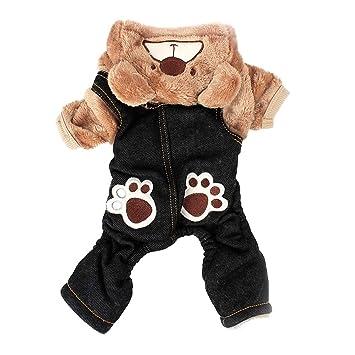 POPETPOP Traje de Perro de Mascota Abrigo de Invierno cálido ...
